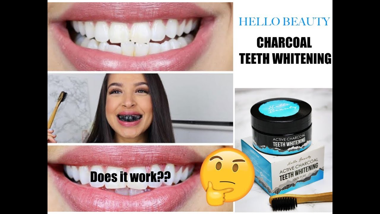 Hello Beauty Active Charcoal Teeth Whitening Powder Review Youtube