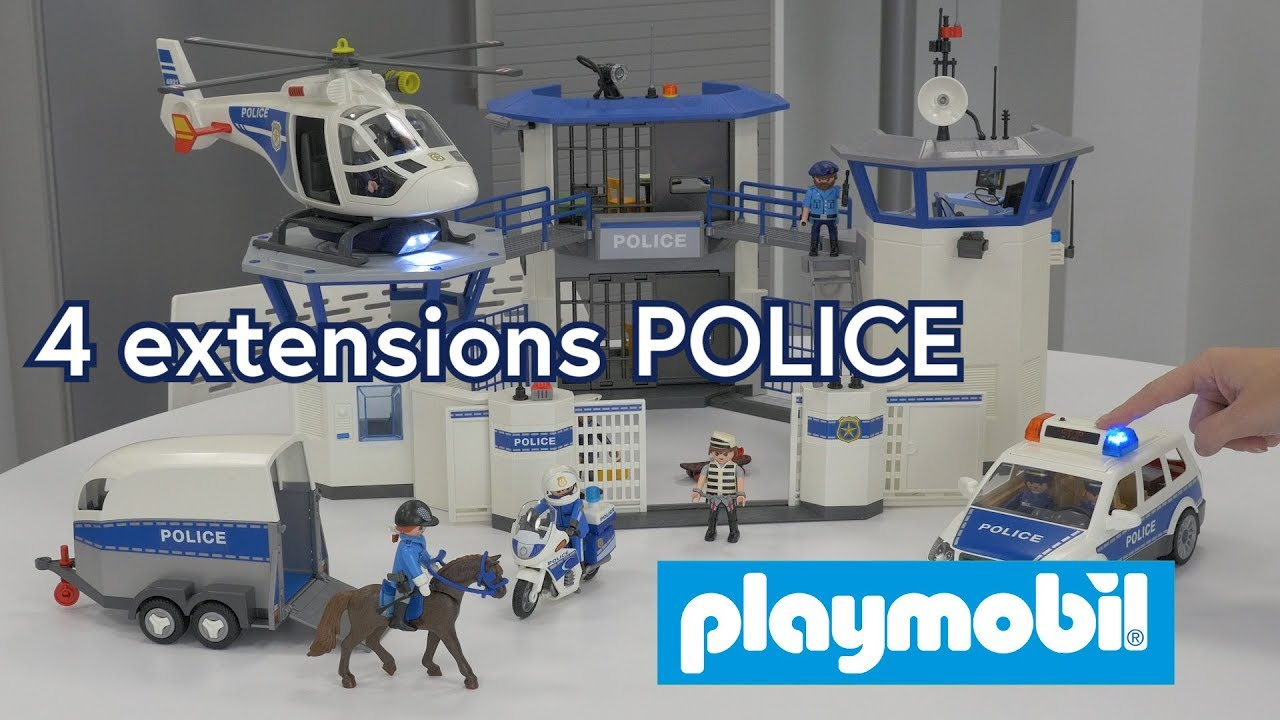 playmobil 4 extensions police 6920 6921 6922 et 6923 d mo en fran ais hd fr youtube. Black Bedroom Furniture Sets. Home Design Ideas