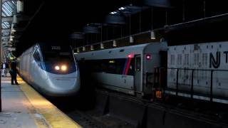 Amtrak & NJ Transit at Newark Penn Station