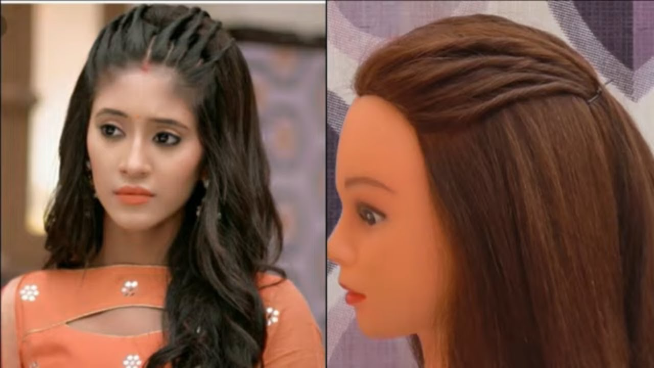 easy hairstyle for girls inspired by naira easy front twist hairstyle for college office party