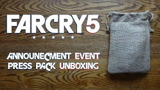 Far Cry 5 Announcement Event Press Pack Unboxing & Review - HD 1080p