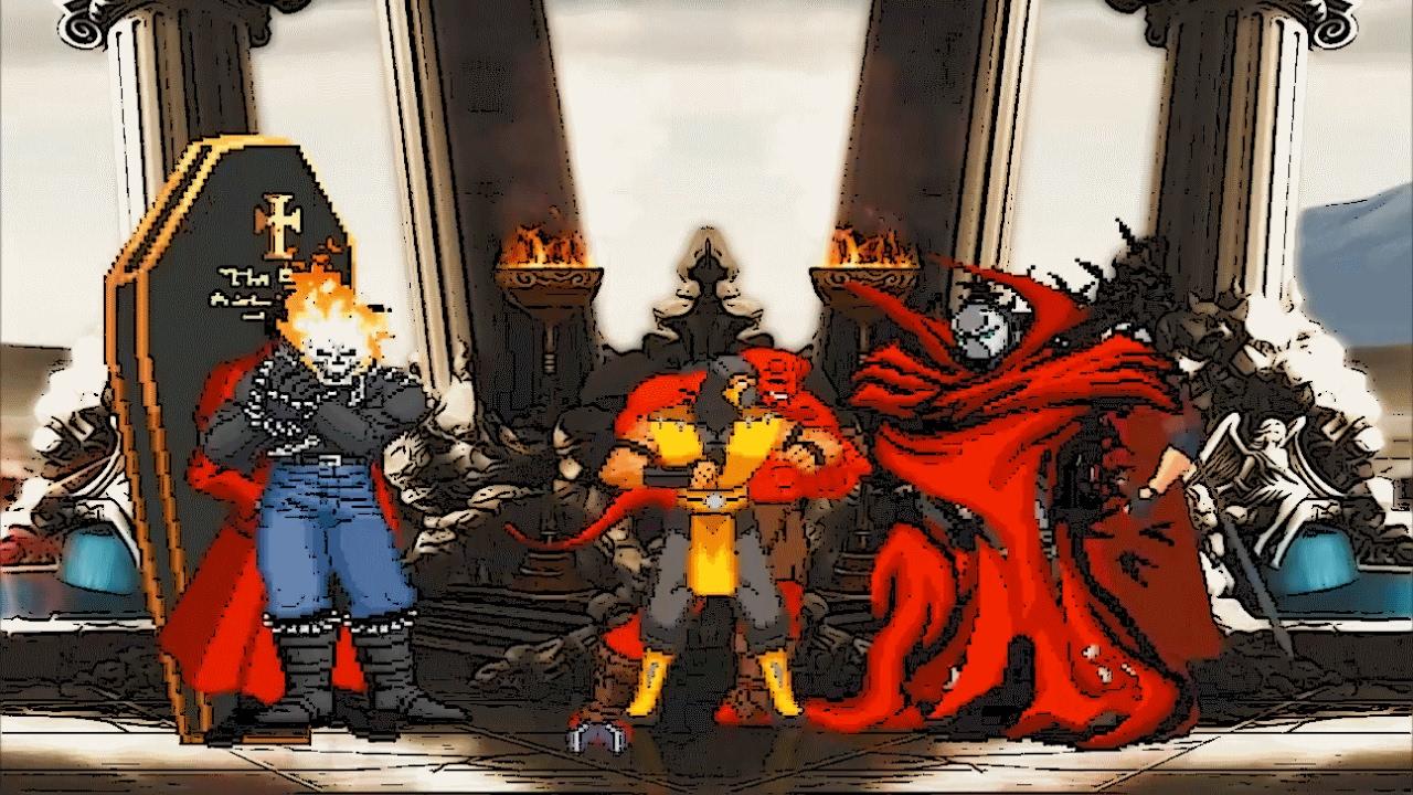Mugen : Ghost Rider, Alucard & Hellboy Vs Spawn, Dante ...