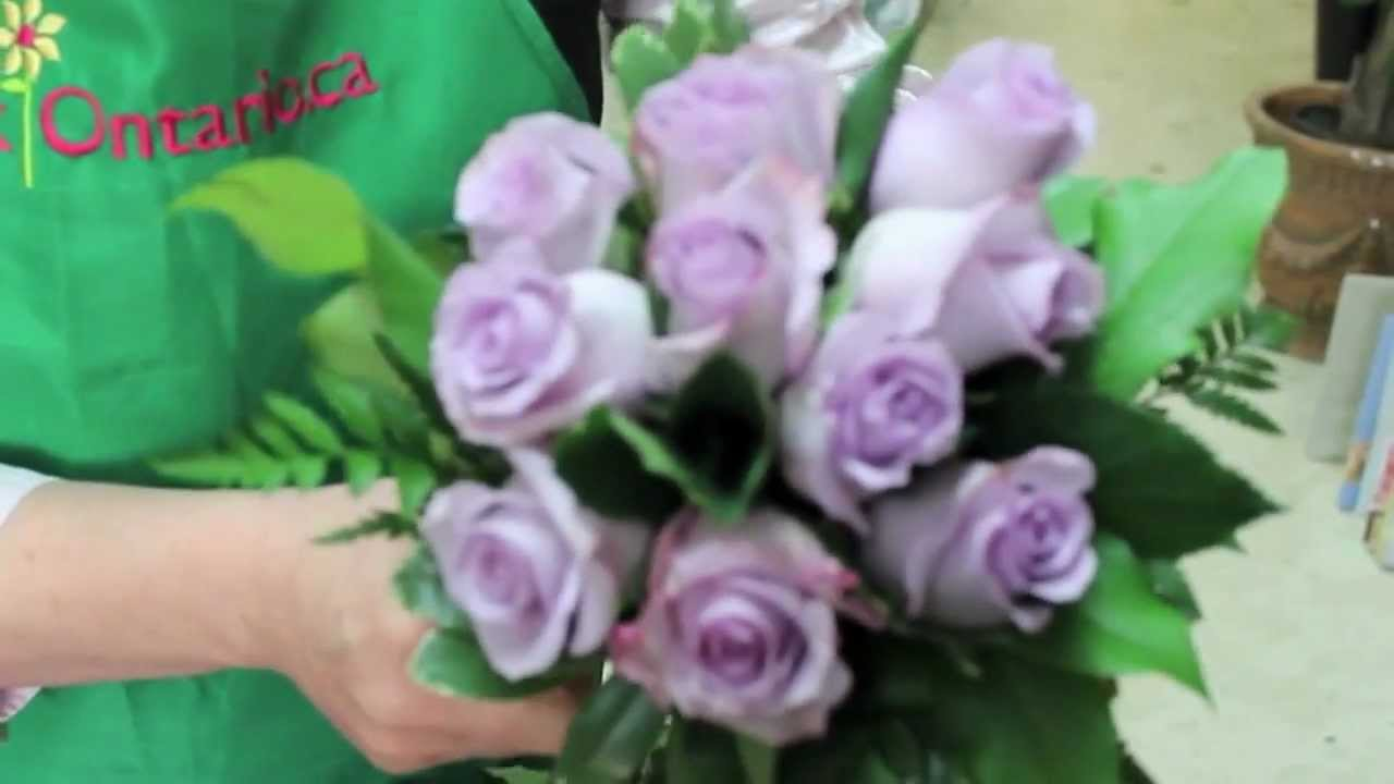 Diy How To Make Your Own Wedding Bouquet With Purple Roses Youtube