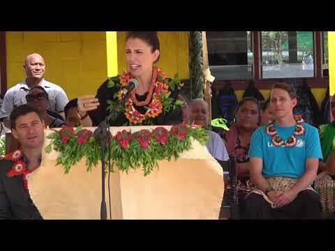 NZ Prime Minister Jacinda Arden & Pacific Mission Delegation visit Tongan GPS Fasi moe Afi 'a Tungi