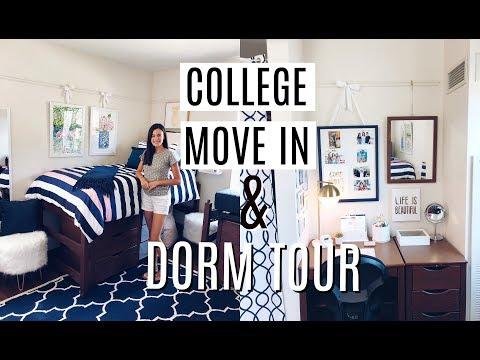 COLLEGE MOVE IN & DORM TOUR   Miami University   EmilyOandbows