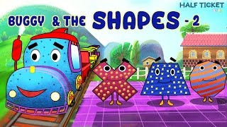 Shapes For Kids | Learn With Buggy The Train - Videos For Kids (Part 2)