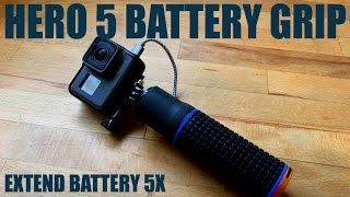 Battery Grip for Hero 5 Black | Extend Your GoPro Battery 5X