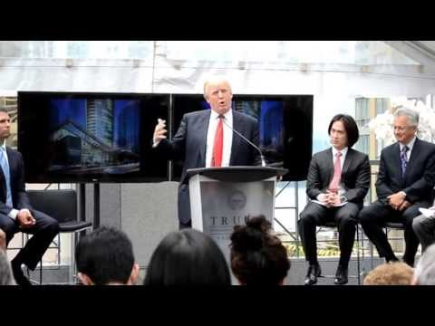 TRUMP in Vancouver. Donal Trump announces Trump International Hotel & Tower Vancouver
