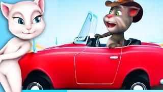 Говорящий Кот Том примеряет модный наряд , меняет интерьер ванной в увлекательном видео для детей.