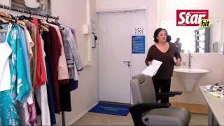 Лариса Гузеева тренируется в гримерке перед съемками «Давай поженимся»