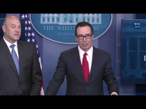 REPORTERS GRILLS Steven Mnuchin and Gary Cohn on Donald Trump NEW TAX REFORM PLAN Press Conference