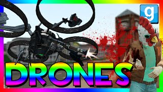 EPIC DRONE CHALLENGE!!! | Garry's Mod Drone Challenge | DRONES VS HUMANS