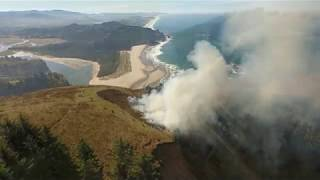 Controlled burn scorches 30 acres of meadow at Cascade Head