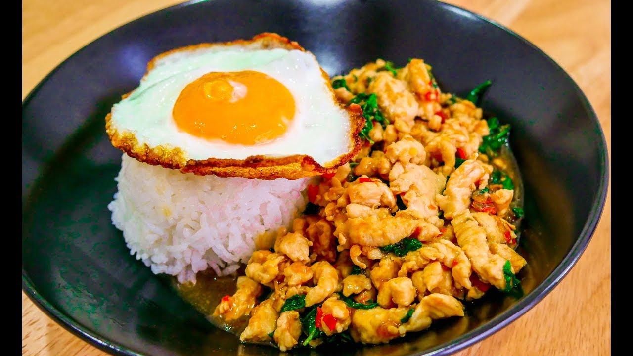 Thai Holy Basil Stir Fry Chicken Recipe Kra Prao Gai