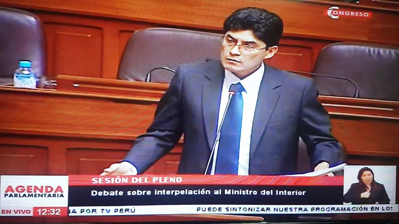 Interpelaci N Al Ministro Del Interior Carlos Basombr O