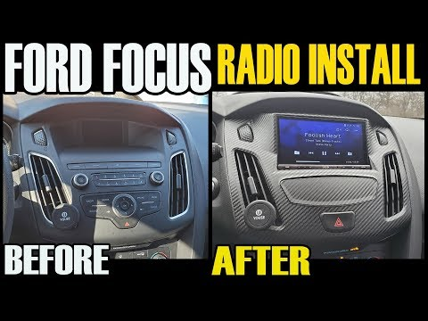 FORD FOCUS RADIO INSTALL - STOCK 4 INCH TO SONY 7 INCH AFTER - IDATALINK MAESTRO