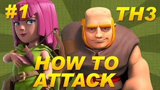 Clash of Clans -BEST Town Hall 3 (TH3) Attack Strategy -Giants + Archers -Farming Beginners Guide