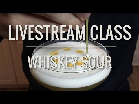 """Live Class - Whiskey Sour using the """"reverse dry shake"""" method"""