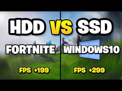 ASÍ MEJORA FORTNITE 2 Y WINDOWS 10 CON UN SSD!   HDD Vs SSD ¿VALE LA PENA? 4K