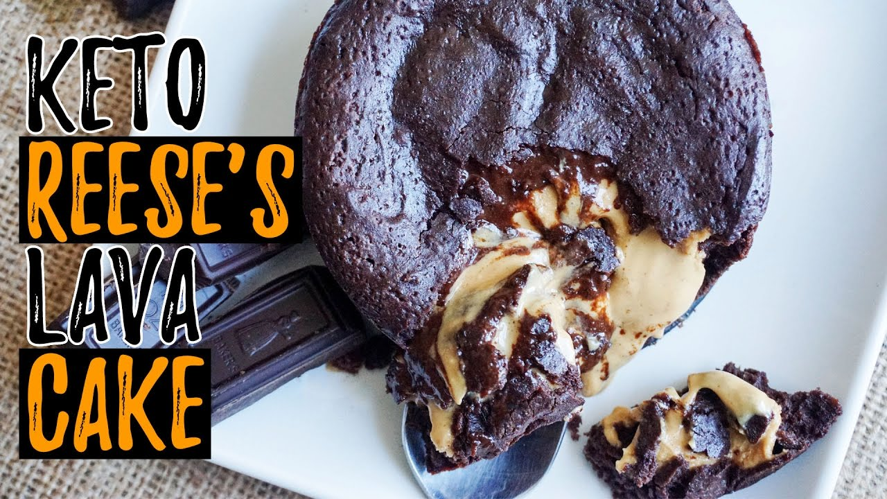 Recipe For Keto Lava Cake: Reese's Chocolate Peanut Butter