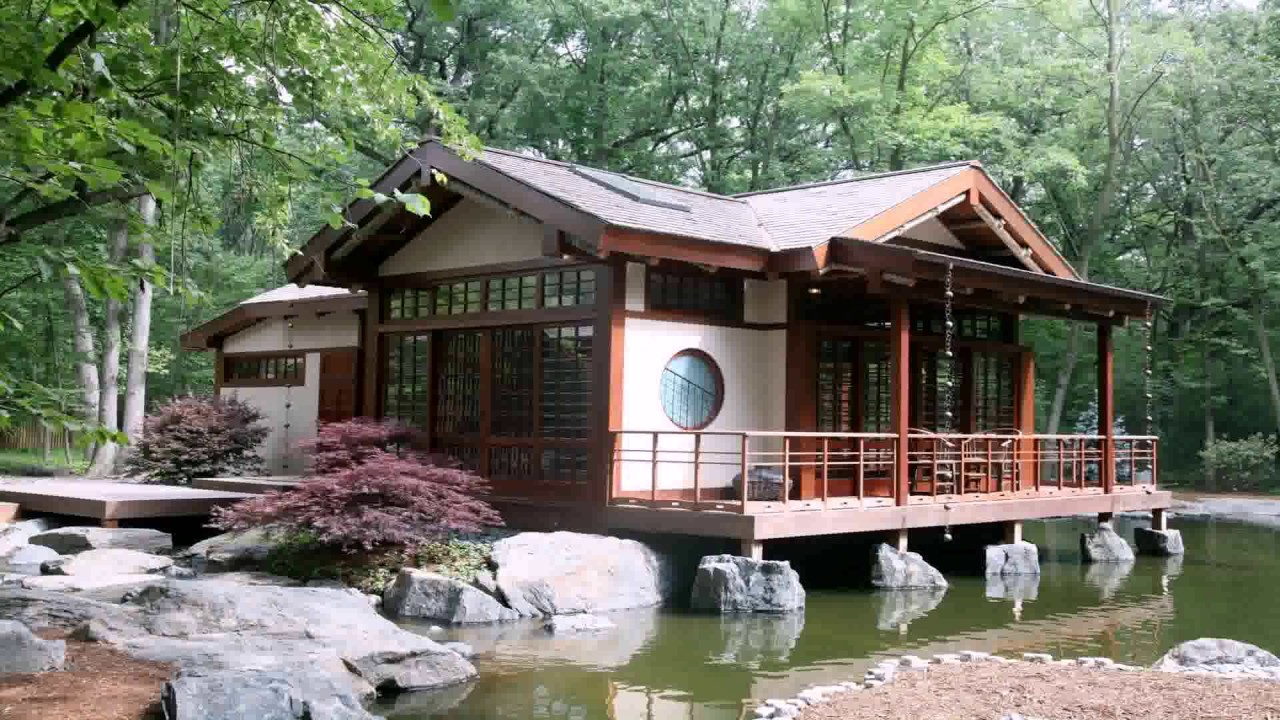 Traditional Japanese Style House In America - YouTube