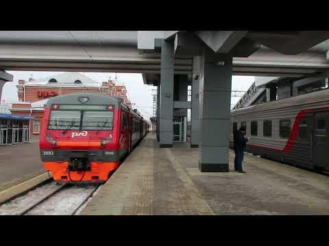 ...как объявляют поезда на вокзале г.Казань (день) (янв,2018) (HD)