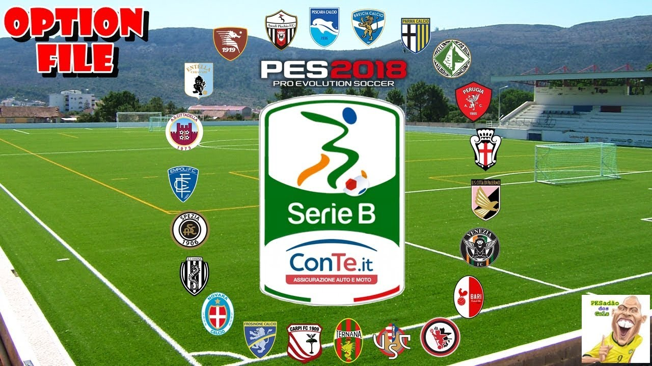 Pes 2018 Option File Serie B Conte It Ps4 Youtube