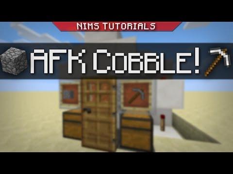 Minecraft: Tutorial   AFK Cobblestone Generator (+SKYBLOCK)