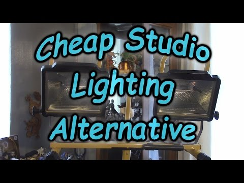 Cheap Studio Lighting Alternative, For Filming Youtube Videos, Construction / Flood Lights