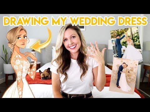 DRAWING MY WEDDING DRESS (I GOT MARRIED)