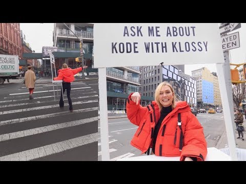 Taking to NYC Streets to Announce Kode With Klossy!! | Karlie Kloss