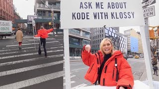 Taking to NYC Streets to Announce Kode With Klossy!!   Karlie Kloss