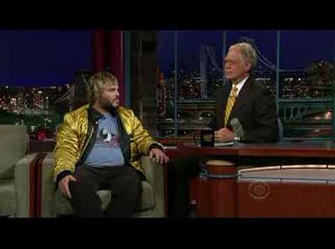 Jack Black on Late show with David Letterman part 1