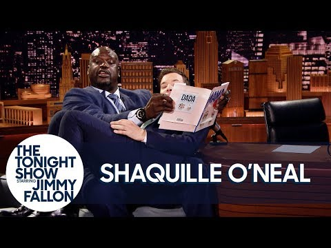 """Shaquille O'Neal Reads Jimmy an """"Everything Is Mama"""" Bedtime Story"""