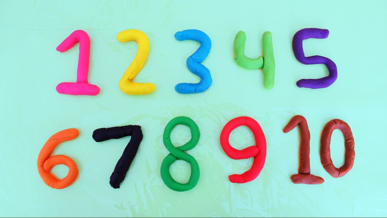 Learn Color & Number with Play Doh   Learn To Count, Colours   with ...