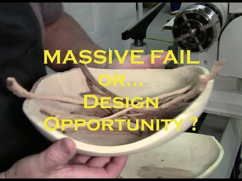 MASSIVE FAIL  or...  Design Opportunity with Live Edge Maple Bowls