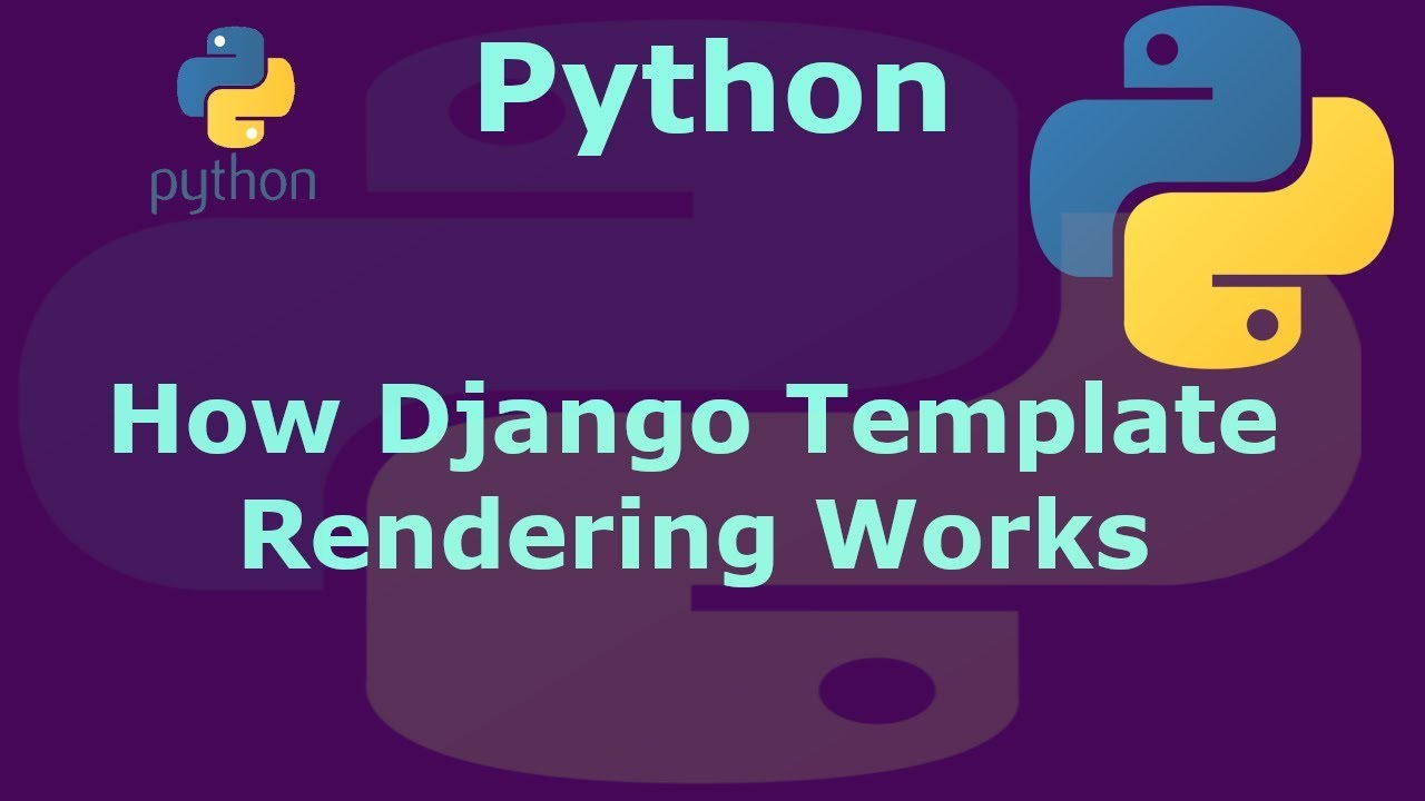 How to Python Django Template Rendering Works - YouTube
