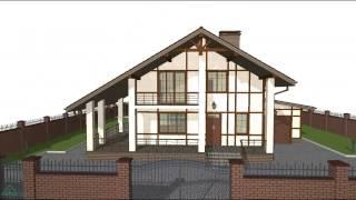 Проект компактного небольшого жилого дом с мансардой и гаражом C-091-ТП(, 2016-10-24T15:26:27.000Z)
