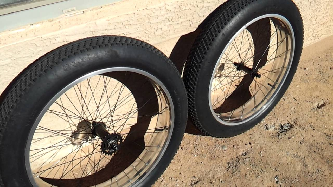 Mongoose Beast Polished Aluminum Wheels 26x4 0 Fat Bike Youtube