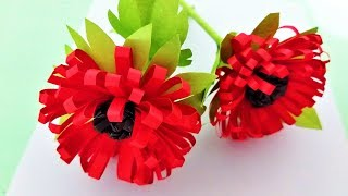 Paper flower stick for room decoration - Complete tutorial of making beautiful paper flower stick