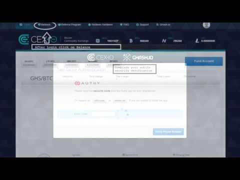 How To Create CEX.io Account And Redeem Bitcoin Mining CEX.io Voucher