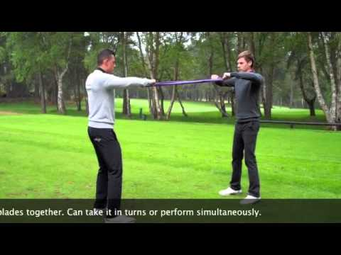 Paired GolfBand Strength Training Drills
