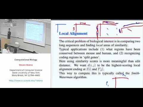 Lecture 11 - Smith-Waterman Algorithm