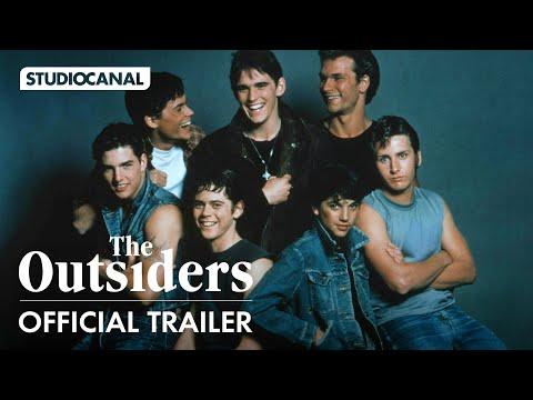 Patrick Swayze, Tom Cruise, Matt Dillon, C. Thomas Howell, Ralph Macchio star in THE OUTSIDERS