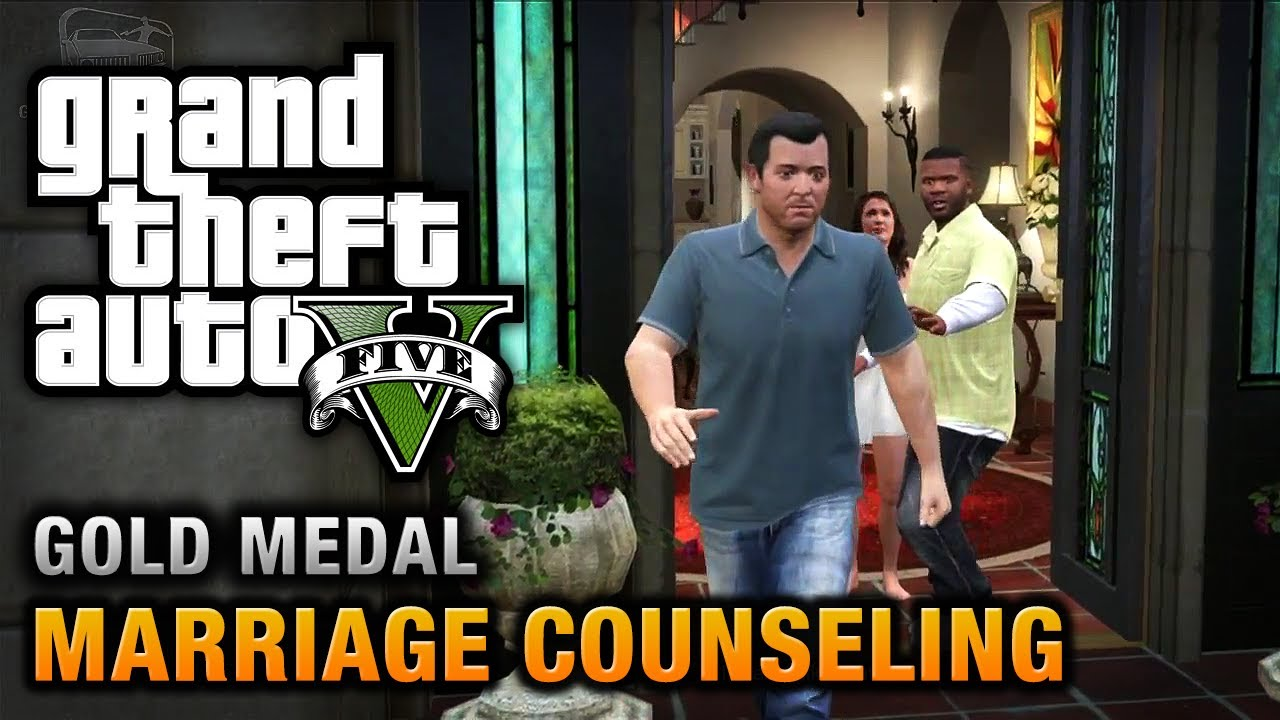 GTA 5 - Mission #6 - Marriage Counseling [100% Gold Medal ...