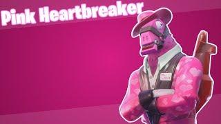 Fortnite Custom Pink Hearbreaker Skin (w/ Emotes and Gameplay)