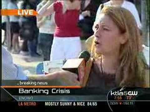 Huge IndyMac Bank Run in Southern California