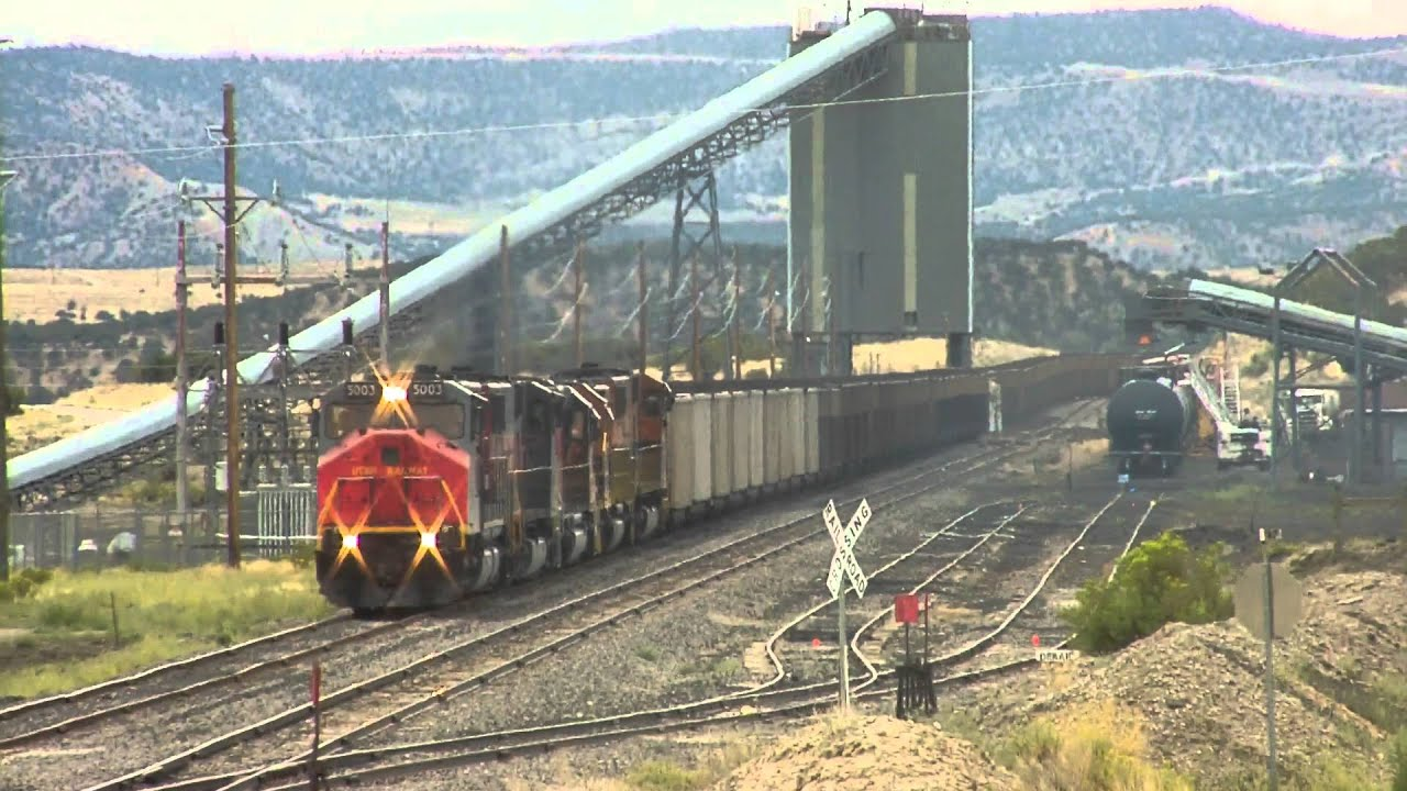 Utah railway at wildcat cold load out - YouTube