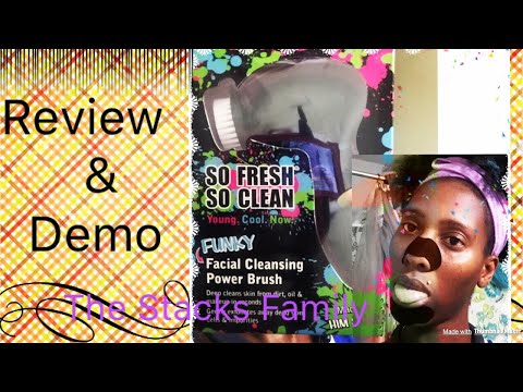 SO FRESH SO CLEAN FACIAL CLEANING BRUSH & NOSE STRIPS REVIEW/DEMO FOR BLACKHEAD