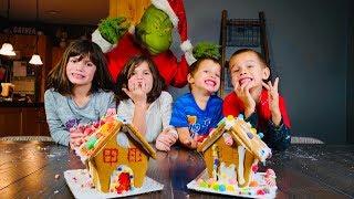Girls Vs Boys Gingerbread House Challenge!!